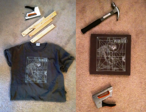 Instructables: T-shirt to wall art